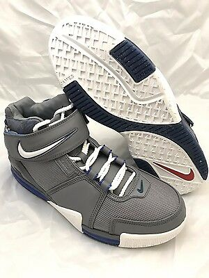 newest 02496 418a4 NEW DS Nike Zoom LeBron II (2) Cool Grey Royal 2004 Size 11 Mens