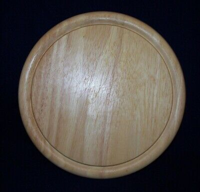 Restaurant Equipment Bar Supplies USED ROUND WOOD CUTTING CHOPPING BOARD LIGHT