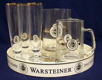 Restaurant Equipment Bar Supplies WARSTEINER GERMAN BEER TRAY MUGS BEER GLASS