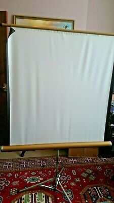 White Foldable Portable Projector Screen For Weddings, Birthday, Celebration