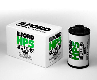 2x Ilford HP5 Plus 35mm 400 ISO Black & White Camera Film 36 exposure