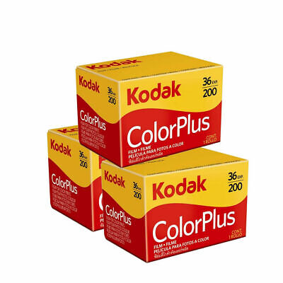 Kodak Colorplus 200 35mm 36exp 3 Rolls Cheap Colour Film - Free UK Postage