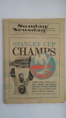 ORIGINAL NEWSDAY NEWSPAPERS COMPLETE! All four New York Islanders Stanley  Cups