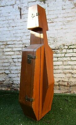 VICTORIAN GOLDEN  WOODEN BROW CELLO CASE c1890 MODERNIST ARTS CRAFTS EDWARDIAN