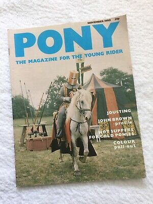 PONY The Magazine For The Young Rider. NOVEMBER 1980. *VGC*.
