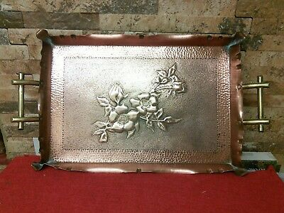 Antique Arts And Crafts Copper Tray.  Vgc