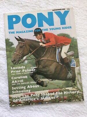 PONY The Magazine For The Young Rider. NOVEMBER 1981. *VGC*.