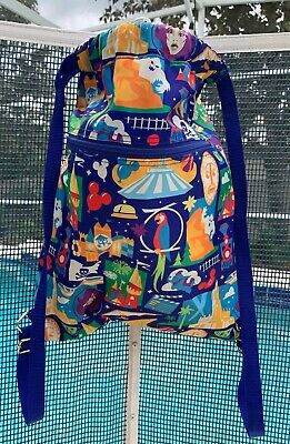 a94e2a78f48 Disney World Monorail Haunted Mansion Dumbo Tea Cups Drawstring Bag Backpack