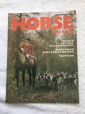 LIGHT HORSE AND RIDER Magazine. NOVEMBER 1980. *EXCELLENT CONDITION*.