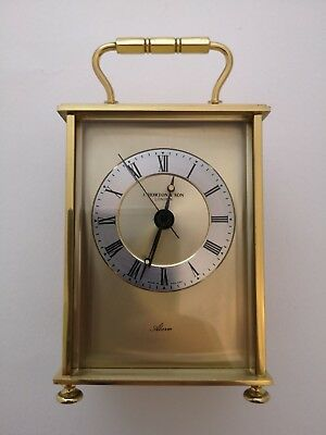 Vintage Weiss & Co Brass  Alarm  Carriage Clock / J. Horton & Sons London