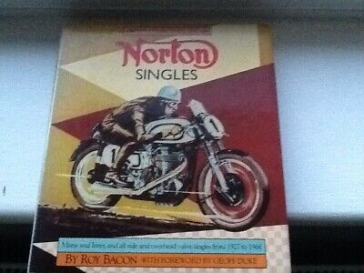 Norton Singles Inter, Manx and all SV and OHV models, Hard Back by Roy Bacon