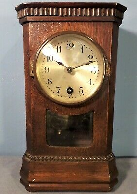 Antique HAC Miniature Mantel Clock, Made in Wurttemberg, Working Order.