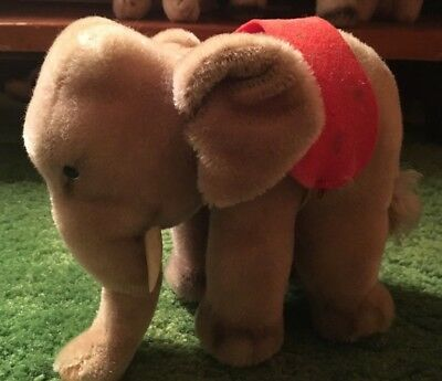 STEIFF ELEPHANT WITH TAG VINTAGE 1950s
