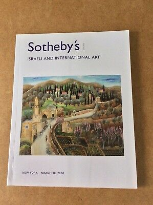 ISRAELI AND INTERNATIONAL ART catalogue of SOTHEBYS auction in New York, 2006.