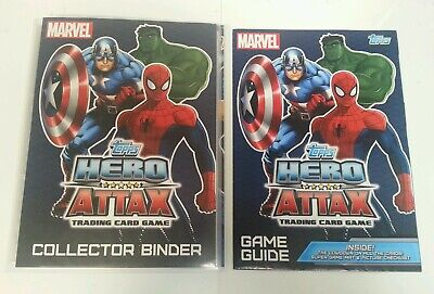 CCG - Topps Marvel Hero Attax Trading Card Game Collector's Binder & Cards 2010