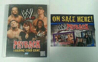 CCG - WWE WWF Topps Payback Trading Card Game Binder & Cards With Poster 2007