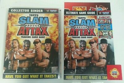 CCG - WWE WWF Topps Slam Attax Trading Card Game Binder Guide & CCG Cards 2008