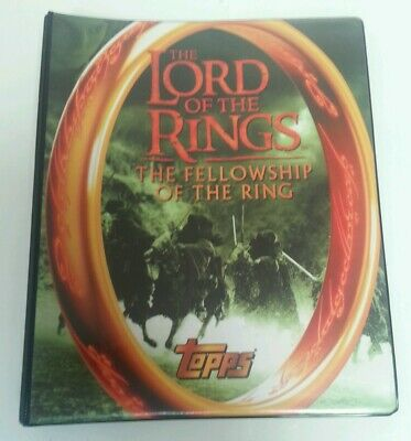 CCG - Lord Of The Rings Movie Topps Binder & Trading Cards 100% Complete 2001