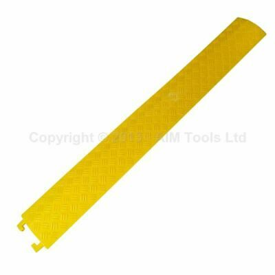 PVC Indoor Cable Cover Protector Single Groove 130x1000mm [Color:Yellow]