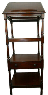 Georgian C1800 ORIGINAL BEAUTIFUL Whatnot Mahogany Writing Slope Display Stand