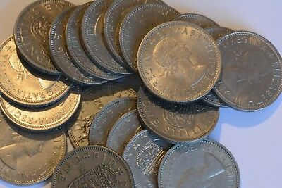 30x CHOICE EF TO UNCIRCULATED CLEAN SHINY SIXPENCES WEDDING FAVOURS WEDDING GIFT