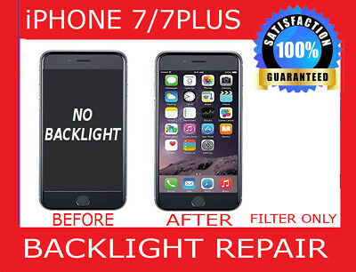 iPhone 7 7+ Backlight Repair Service Turn Around Time 1-2 Business Days