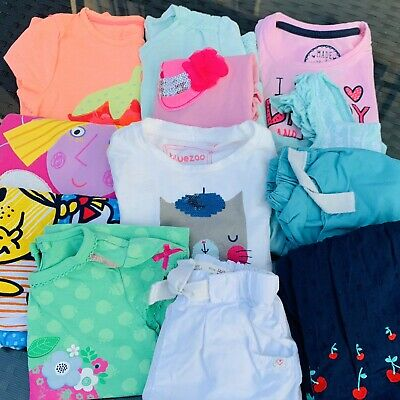 Baby girls Summer clothes bundle 12 - 18 Months Debenhams, Zara, H&M Etc