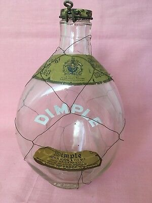 HAIG WHISKEY 70% Proof DIMPLE Bottle With Labels Spring Cap & Wire Collectible