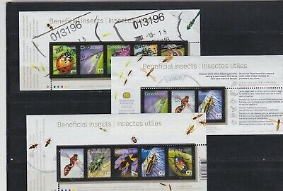 Canada Used Beneficial Insects Souvenir Sheets