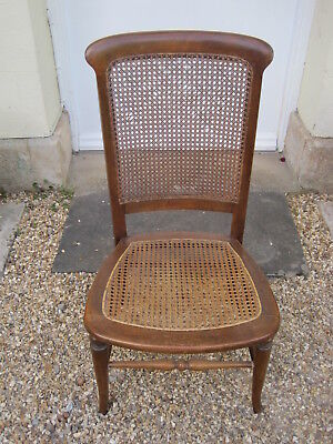 Late 19th / Early 20th century Side Chair with Bergere Seat and Back *