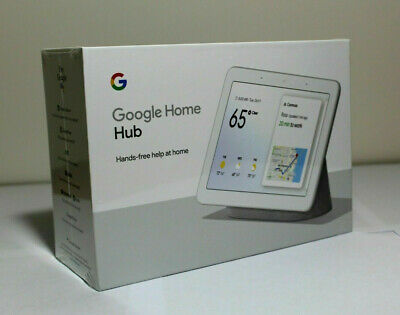 "(NEW & SEALED) Google Home Hub with Google Assistant 7"" Display Chalk GA00516-US"