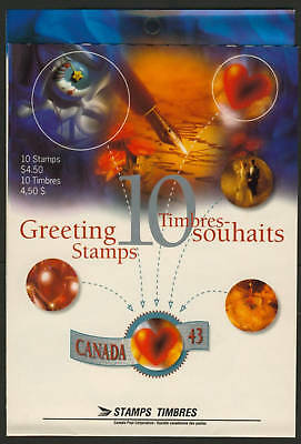 Canada 1508a Booklet BK166a open MNH Greetings