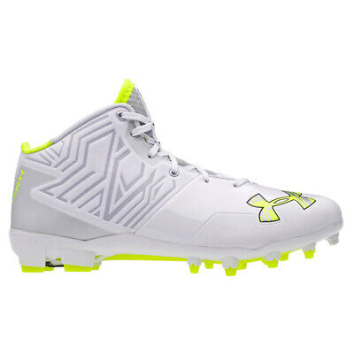 New Under Armour Banshee Lacrosse/Football Cleats White/Silver Sz 16 M Re: $100