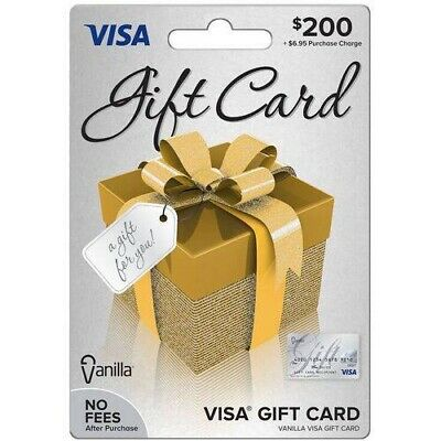 200$ VANILLA  GIFT CARD USE ANYWHERE ACTIVATED No Fees After Purchase