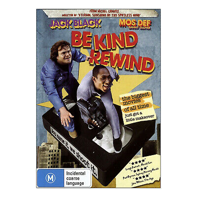 Be Kind Rewind DVD Region 4 Brand New - Jack Black, Mos Def