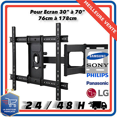 "Support TV LCD LED Mural Inclinable Orientable Pour Ecran 30"" à 70"" 76cm à 178cm"