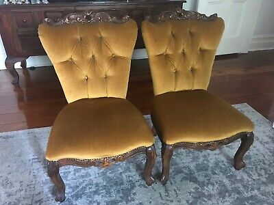Vintage French Louis XV Hall / Bedroom Chairs