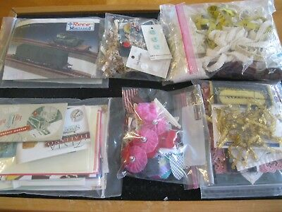 Lot F6 vintage junk journal ephemera pack scrapbook supply collage crafts trim