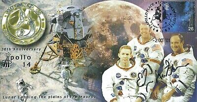 Edgar Mitchell Apollo 14 Signed Postal Cover  - Uacc & Aftal Rd Autograph