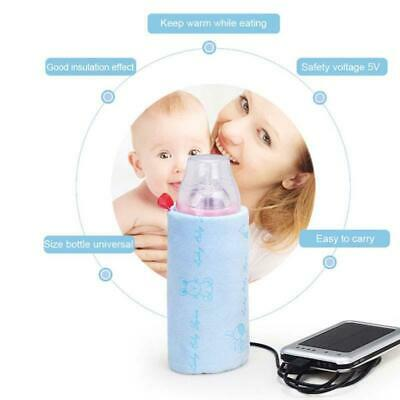 USB Milk Warmer Thermal Bag Travel Cup Portable Baby Bottle Cover Feeding Infant