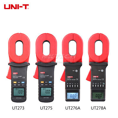 UNI-T Clamp Earth Ground Tester Digital Resistance Meter Leakage Current Test