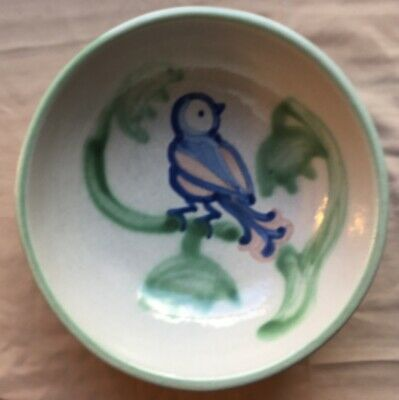M A Hadley 6 1/2 inch Bowl with Bluebird Picture Extremely RARE!