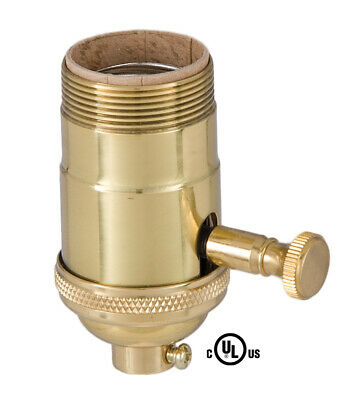 B&P Lamp Edison Size Full Dimmer Socket in Brass With UNO Thread
