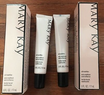 Lot 2 Mary Kay OIL MATTIFIER For Oily Skin, Absorbs Oil, Controls Shine