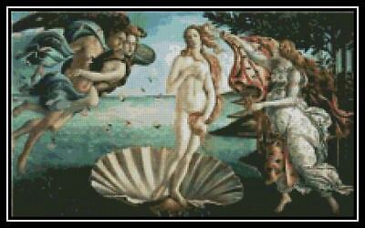 The Birth of Venus - Cross Stitch Chart/Pattern/Design/XStitch
