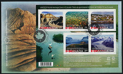 Canada 2857 on FDC - UNESCO World Heritage Sites, Dinosaur Park
