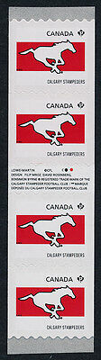 Canada 2561i Gutter pair coil strip MNH CFL Calgary Stampeders, Sports