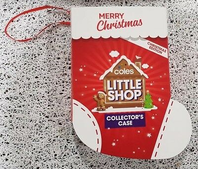 Coles Little Shop CHRISTMAS Complete Collection and Case. LIMITED EDITION. XMAS.
