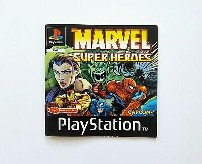 Marvel Super Heroes - SONY PLAYSTATION / PS1 Manual Only