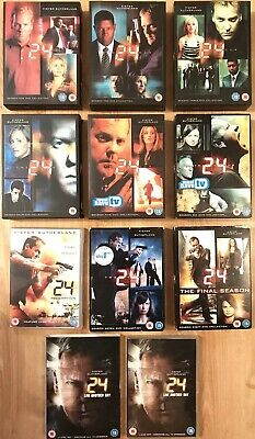24 The Complete Series/Seasons 1-8 +Redemption +Live Another Day R2 DVD 144hours
